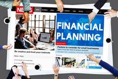 财政规划银行投资金钱概念 免版税库存图片