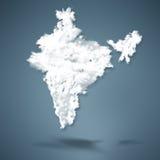 政治大陆印度的映射 免版税图库摄影