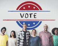 政治政府公民投票民主表决概念 免版税库存照片