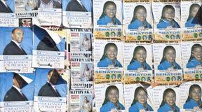 政治海报在肯尼亚 免版税库存照片