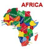 政治非洲的映射 免版税库存照片