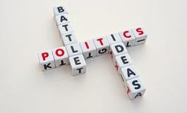 政治:想法的争斗 免版税图库摄影