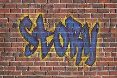 故事词作为街道画 库存图片