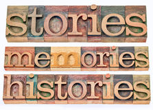 故事,记忆,历史 库存照片