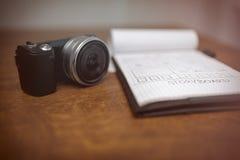 故事画板和照相机 免版税库存照片