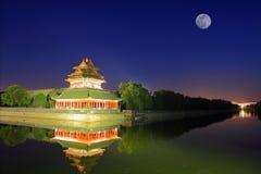 故宫在晚上 免版税库存图片