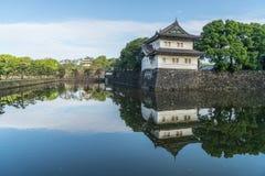 故宫墙壁和传统建筑学在Toky 免版税库存照片