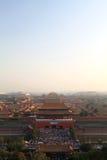 故宫的空中鸟景色, 2013年5月 免版税库存图片