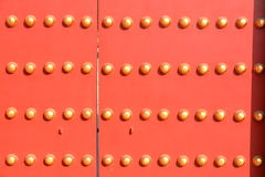 故宫的门在北京 免版税库存图片