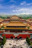 故宫的鸟瞰图 北京 图库摄影