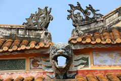 故宫,颜色,越南 聚会所 免版税图库摄影