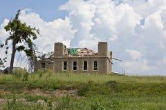 故障房子龙卷风 库存图片