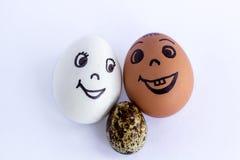 仿效一愉快的混杂的加上多彩多姿的婴孩的滑稽的鸡蛋 免版税图库摄影