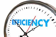 效率生产力时钟词工作结果 皇族释放例证