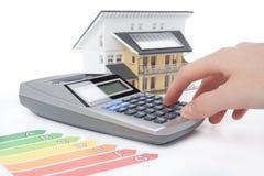 效率能源房子评级 免版税库存图片