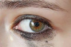 敏感哭泣的眼睛 免版税图库摄影
