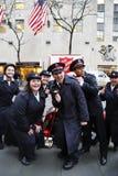 救世军战士为汇集执行在曼哈顿中城 免版税库存照片