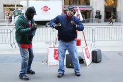 救世军战士为汇集执行在曼哈顿中城 库存图片