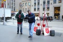 救世军战士为汇集执行在曼哈顿中城 图库摄影