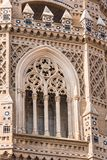 救主或Catedral del萨尔瓦多的大教堂在萨瓦格萨,西班牙 特写镜头 垂直 库存图片