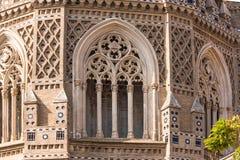 救主或Catedral del萨尔瓦多的大教堂在萨瓦格萨,西班牙 特写镜头 免版税库存图片