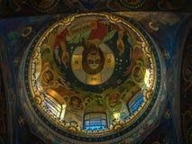 救主的内部教会溢出的血液的在圣彼德堡,俄罗斯 免版税库存图片
