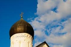 救主的天主教显圣容堂的圆顶 免版税库存照片