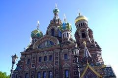 救主的寺庙血液的在圣彼德堡,俄罗斯 免版税库存图片