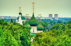 救主的教会在城市在雅罗斯拉夫尔市,俄罗斯 图库摄影