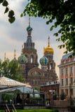 救主的教会溢出的血液的在圣彼得堡,俄罗斯 图库摄影