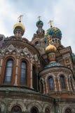 救主的教会溢出的血液的在圣彼得堡 库存图片