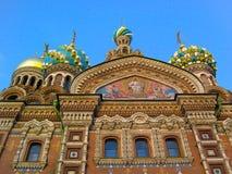 救主的教会溢出的血液的,圣彼得堡,俄罗斯 库存图片