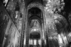 救主的教会Spilled血液内部的在圣彼德堡,俄罗斯 免版税图库摄影