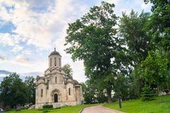 救主的Vernicle图象的斯帕斯基大教堂在Andronikov修道院里,莫斯科 免版税库存照片