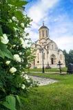 救主的Vernicle图象的斯帕斯基大教堂在Andronikov修道院里,莫斯科 免版税图库摄影
