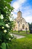 救主的Vernicle图象的斯帕斯基大教堂在Andronikov修道院里,莫斯科 免版税库存图片