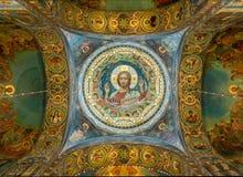 救主,俄罗斯的教会溢出的血液的 库存照片
