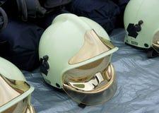 救助者和消防员的个体防护用品 免版税库存照片