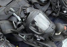 救助者和消防员的个体防护用品 库存照片