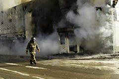 救助者消防员 免版税库存图片