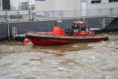 救助艇在利物浦英国 库存图片