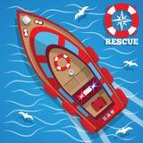 救助艇 免版税图库摄影