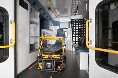 救护车内部 免版税图库摄影