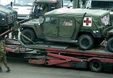 救护车军人 免版税库存图片