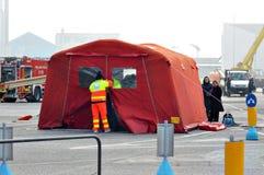 救护车和消防队 库存图片