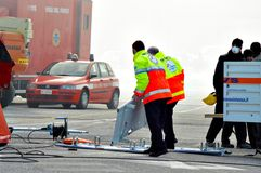 救护车和消防队 免版税库存图片