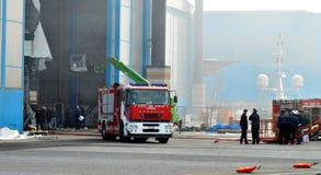 救护车和消防队 免版税图库摄影