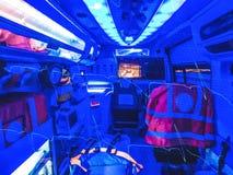 救护车和ECG的两次曝光 库存照片