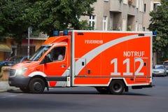 救护车汽车欧罗巴德国慕尼黑 图库摄影