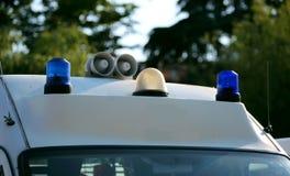 救护车汽车的蓝色光 库存图片